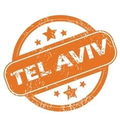 Tel Aviv round stamp vector image
