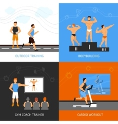 Trainer Design Concept Set vector image