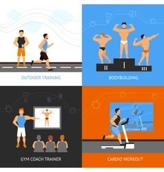 Trainer design concept set vector