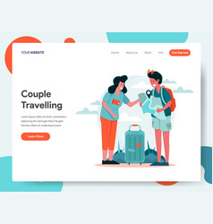 travelling couple concept vector image
