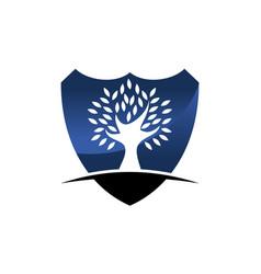 Tree shield vector