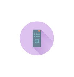 Tv control colorful flat icon vector