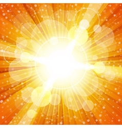 Yellow and orange colorful burst of light with vector