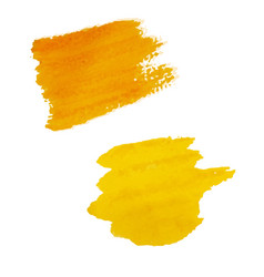 Yellow blots isolated vector