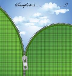 zipper sky vector image vector image