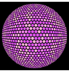 Dotted sphere vector image