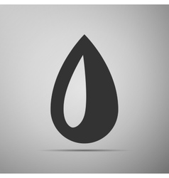 Drop flat icon on grey background vector image vector image