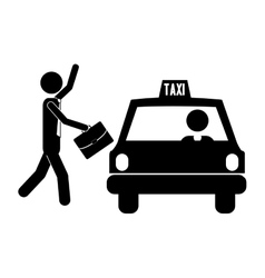 taxi icon image vector image