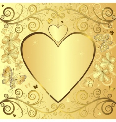 valentine elegant golden background vector image vector image