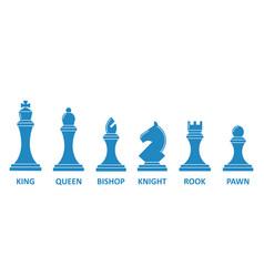chess piece name set vector image