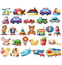 Collection of toys vector image vector image