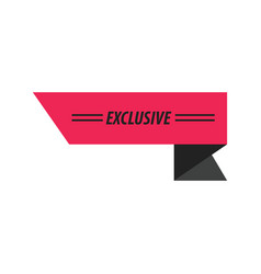 design ribbon exclusive black pink vector image