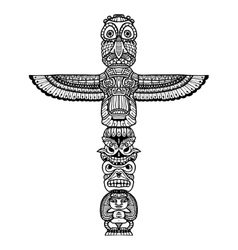 Doodle Totem vector image
