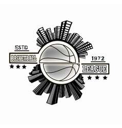 Logo basketball league vector image vector image