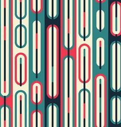retro line seamless pattern vector image