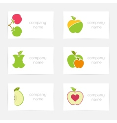 Set of logos and symbols for company vector image