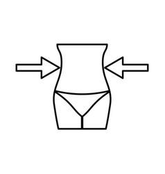slimming woman concept black icon vector image vector image