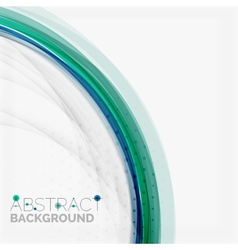 Blue and green color abstract waves vector image