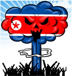 bomb on north korea flag vector image