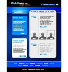 futuristic style website template vector image vector image
