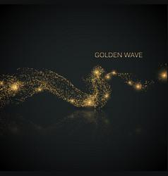 glittering stream of gold sparkles vector image