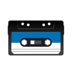 Retro audio tape cassette Isolated vector image