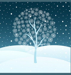 Winter snowy landscape vector