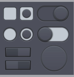 black interface radio buttons toggle switched vector image
