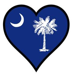 love south carolina vector image