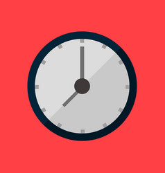 simple round clock vector image