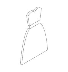 Wedding dress icon isometric 3d style vector image
