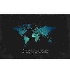 World map logo Creative world design Creative vector image
