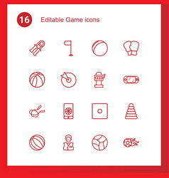 16 game icons vector