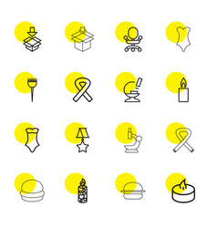 16 one icons vector image