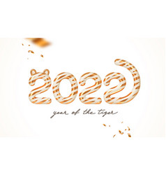 2022 new year greeting card year of the tiger vector