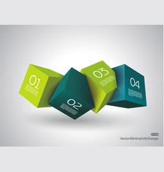 3d cubes vector