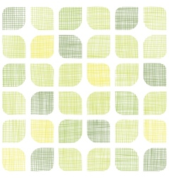 Abstract textile green rounded squares seamless vector image