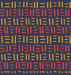 African seamless pattern ethnic tribal ornament vector