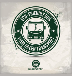 Alternative eco friendly bus stamp vector