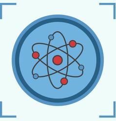 Atom color icon vector
