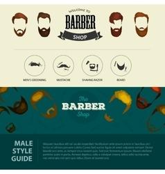 barber shop or hairdresser background set vector image