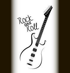 bass guitar laconic imageeps10 vector image