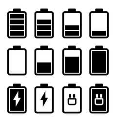 Battery Black Icons vector