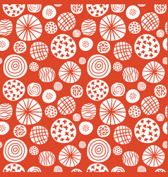big polka dot red sketch pattern vector image