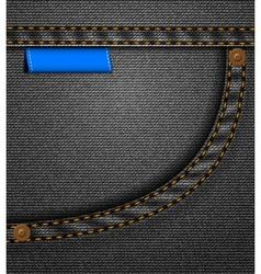 Black jeans pocket vector