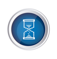 Blue emblem mouse hourglass cursor icon vector