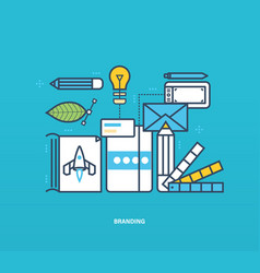 branding and corporate identity as well tools vector image vector image
