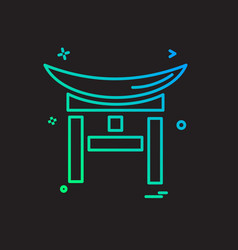Bridge icon design vector
