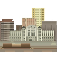 Building on a white background vector