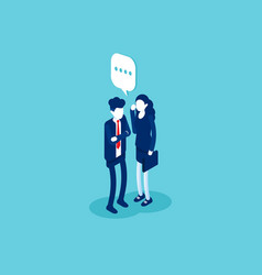 business says something to other people isometric vector image